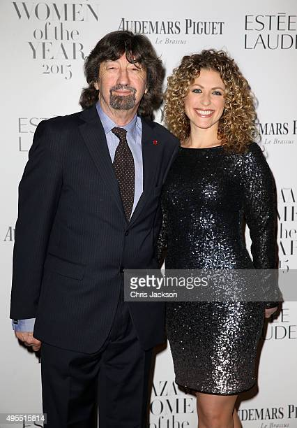 Trevor Nunn and guest attend Harper's Bazaar Women of the Year Awards at Claridge's Hotel on November 3 2015 in London England