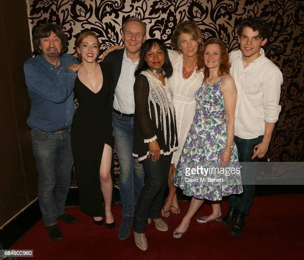 Trevor Nunn Charlotte Spencer Antony Head Vivienne Rochester Eve Best Nicola Sloane and Edward Bluemel attend the party following the press night...