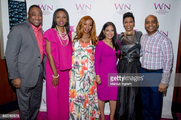 Trevor Otts Jackie Flemming Lucinda Cross TV personality Lisa Nicole Cloud Dr Sonja Stribling and Che Brown attend the 2017 WEN VIP Day And Power...