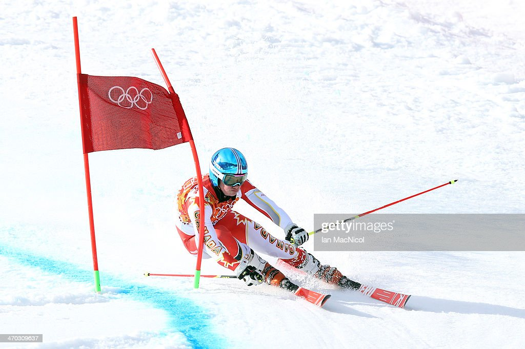Trevor Philp of Canada competes during round two of the Men's Giant Slalom on Day 12 of the Sochi 2014 Winter Olympics at Rosa Khutor Alpine Centre on February 19, 2014 in Sochi, Russia.