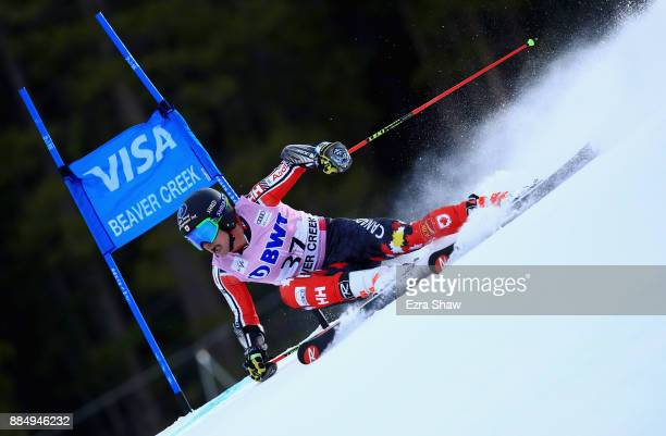 Trevor Philp of Canada competes in the first run of the Birds of Prey World Cup Giant Slalom race on December 3 2017 in Beaver Creek Colorado