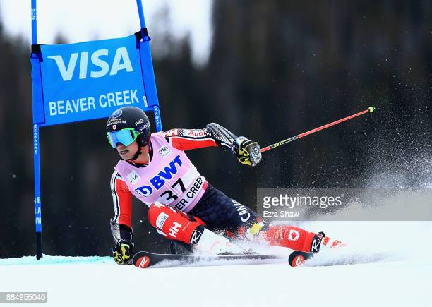 Trevor Philp of Canada competes in the second run of the Birds of Prey World Cup Giant Slalom race on December 3 2017 in Beaver Creek Colorado