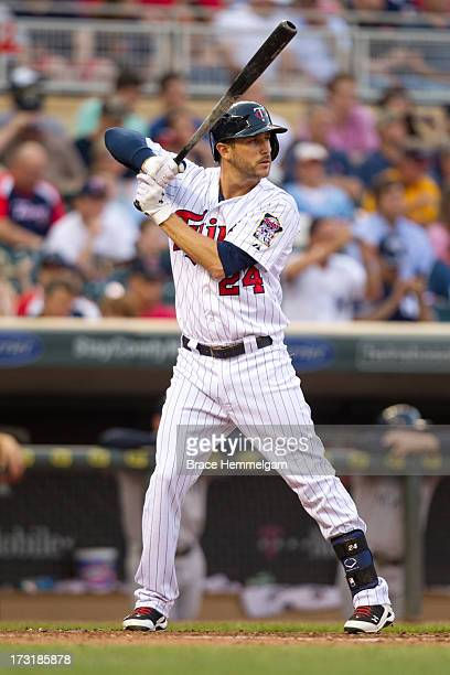 Trevor Plouffe of the Minnesota Twins bats against the New York Yankees on July 1 2013 at Target Field in Minneapolis Minnesota The Yankees defeated...