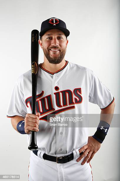 Trevor Plouffe of the Minnesota Twins poses for a photo during the Twins' photo day on March 3 2015 at Hammond Stadium in Fort Myers Florida