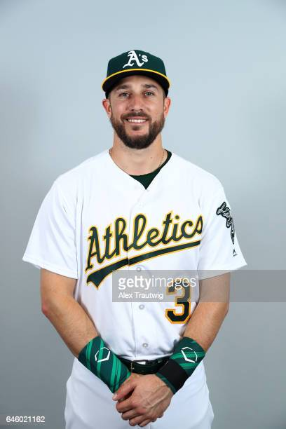 Trevor Plouffe of the Oakland Athletics poses during Photo Day on Wednesday February 22 2012 at Hohokam Stadium in Phoenix Arizona