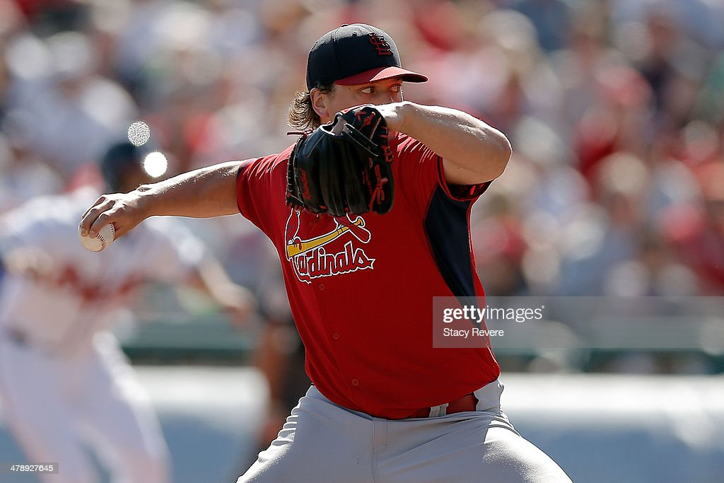 <a gi-track='captionPersonalityLinkClicked' href=/galleries/search?phrase=Trevor+Rosenthal&family=editorial&specificpeople=9003011 ng-click='$event.stopPropagation()'>Trevor Rosenthal</a> #26 of the St. Louis Cardinals throws a pitch in the ninth inning of a game against the Atlanta Braves at Champion Stadium on March 15, 2014 in Lake Buena Vista, Florida. St. Louis won the game 6-2.