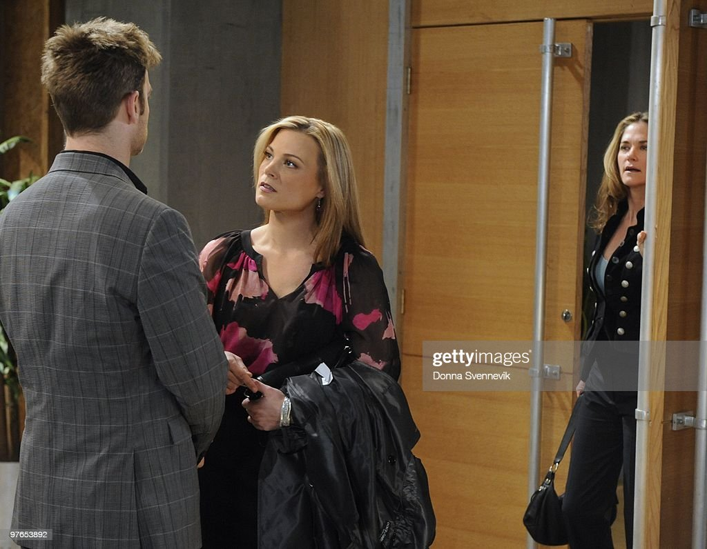 LIVE - Trevor St. John (Todd), Gina Tognoni (Kelly) and Kassie DePaiva (Blair) in a scene that airs the week of March 15, 2010 on ABC Daytime's 'One Life to Live.' 'One Life to Live' airs Monday-Friday (2:00 p.m. - 3:00 p.m., ET) on the ABC Television Network. OLTL10 (Photo by Donna Svennevik/ABC via Getty Images) TREVOR