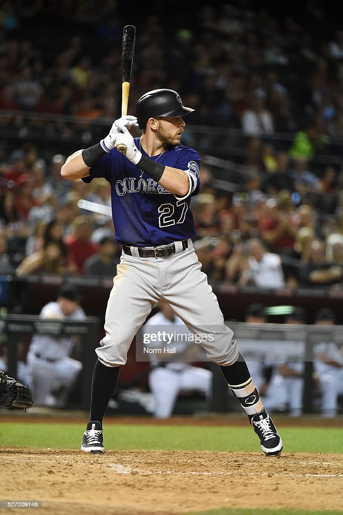 <a gi-track='captionPersonalityLinkClicked' href=/galleries/search?phrase=Trevor+Story&family=editorial&specificpeople=13669220 ng-click='$event.stopPropagation()'>Trevor Story</a> #27 of the Colorado Rockies gets ready in the batters box against the Arizona Diamondbacks on April 29, 2016 in Phoenix, Arizona.