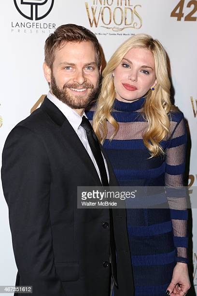 Trevor Vaughn and Mackenzie Mauzy attend 'A Musical Tribute to Stephen Sondheim' at 42 West on March 22 2015 in New York City