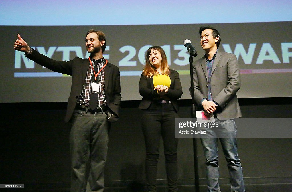 Trevor Williams, Alison Rich and Andrew Law accept IFC 'Out of the Box' Award for: 'Incognito' during the awards ceremony at the 9th Annual New York Television festival at SVA Theater on October 26, 2013 in New York City.