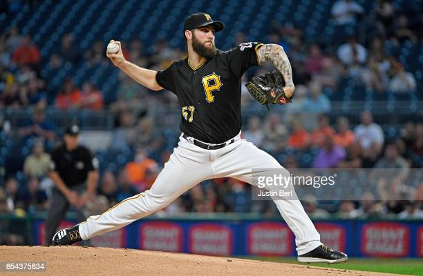 Trevor Williams of the Pittsburgh Pirates delivers a pitch in the first inning during the game against the Baltimore Orioles at PNC Park on September...