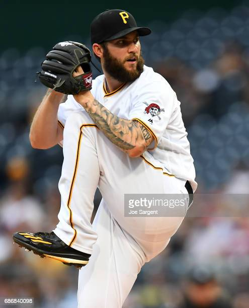 Trevor Williams of the Pittsburgh Pirates in action during the game against the Philadelphia Phillies at PNC Park on May 19 2017 in Pittsburgh...