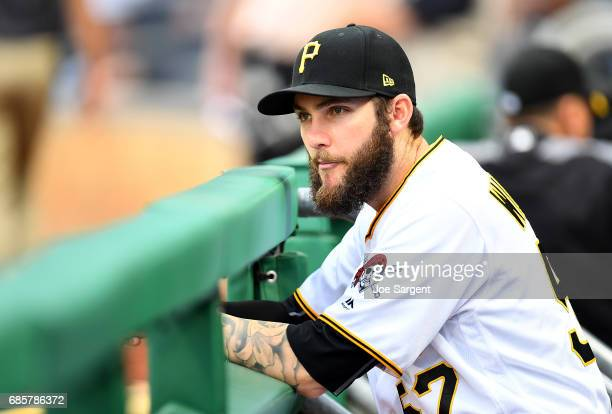 Trevor Williams of the Pittsburgh Pirates looks on during the game against the Washington Nationals at PNC Park on May 17 2017 in Pittsburgh...