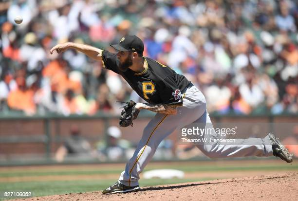 Trevor Williams of the Pittsburgh Pirates pitches against the San Francisco Giants in the bottom of the second inning at ATT Park on July 26 2017 in...