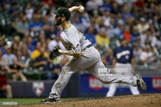 Trevor Williams of the Pittsburgh Pirates pitches in the fifth inning against the Milwaukee Brewers at Miller Park on June 21 2017 in Milwaukee...