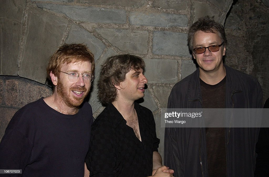 Trey Anastasio, Mike Gordon and Tim Robbins during Woodstock Film Festival and Allaire Studios Present 'Rising Low' Directed by Mike Gordon of Phish at Allaire Studios in Woodstock, New York, United States.