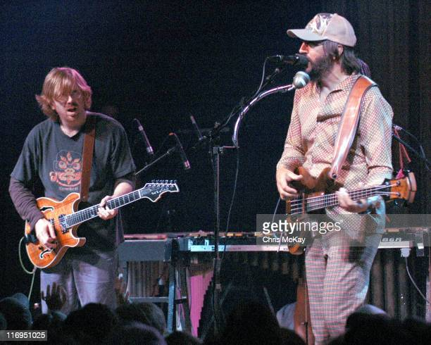 Trey Anastasio of Phish and Les Claypool during Les Claypool in Concert at Variety Playhouse in Atlanta July 11 2005 at Variety Playhouse in Atlanta...