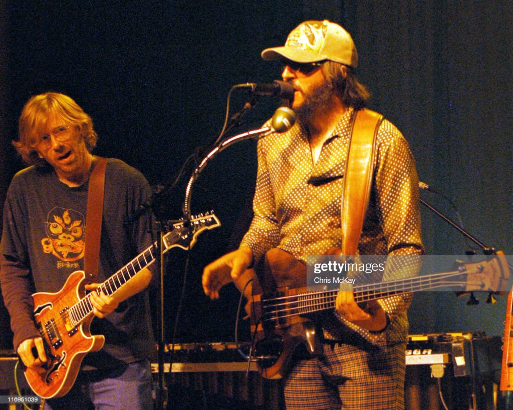 <a gi-track='captionPersonalityLinkClicked' href=/galleries/search?phrase=Trey+Anastasio&family=editorial&specificpeople=214116 ng-click='$event.stopPropagation()'>Trey Anastasio</a> of <a gi-track='captionPersonalityLinkClicked' href=/galleries/search?phrase=Phish&family=editorial&specificpeople=2133185 ng-click='$event.stopPropagation()'>Phish</a> and <a gi-track='captionPersonalityLinkClicked' href=/galleries/search?phrase=Les+Claypool&family=editorial&specificpeople=2133154 ng-click='$event.stopPropagation()'>Les Claypool</a> during <a gi-track='captionPersonalityLinkClicked' href=/galleries/search?phrase=Les+Claypool&family=editorial&specificpeople=2133154 ng-click='$event.stopPropagation()'>Les Claypool</a> in Concert at Variety Playhouse in Atlanta - July 11, 2005 at Variety Playhouse in Atlanta, Georgia, United States.