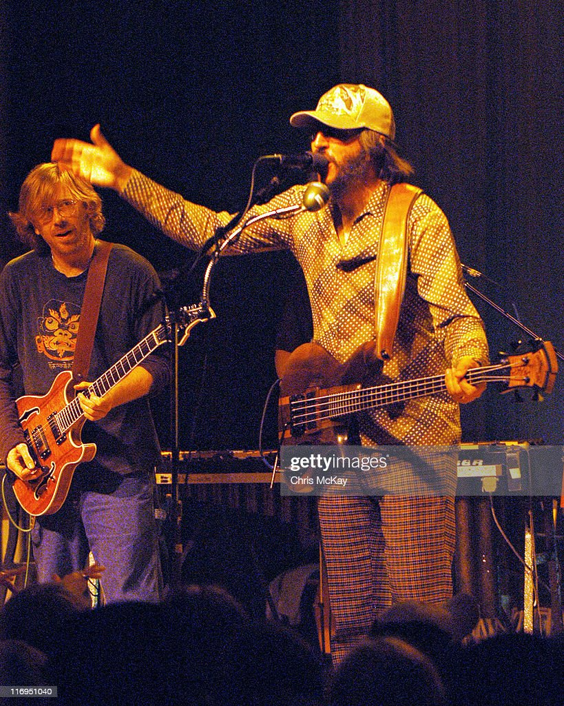 Trey Anastasio of Phish and Les Claypool during Les Claypool in Concert at Variety Playhouse in Atlanta - July 11, 2005 at Variety Playhouse in Atlanta, Georgia, United States.