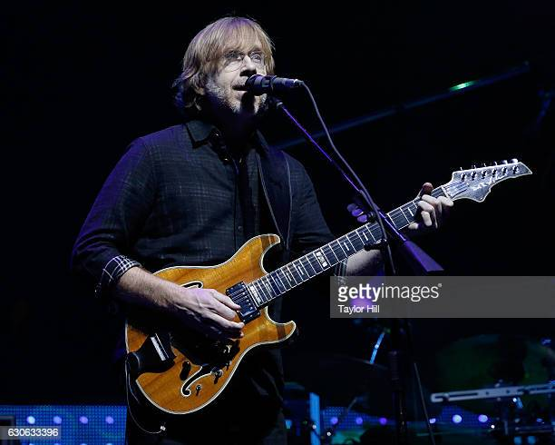Trey Anastasio of Phish performs at Madison Square Garden on December 28 2016 in New York City