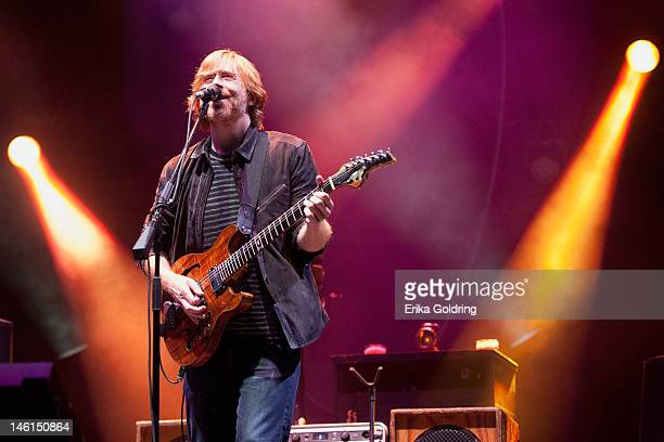 Trey Anastasio of Phish performs during the 2012 Bonnaroo Music and Arts Festival on June 10 2012 in Manchester Tennessee