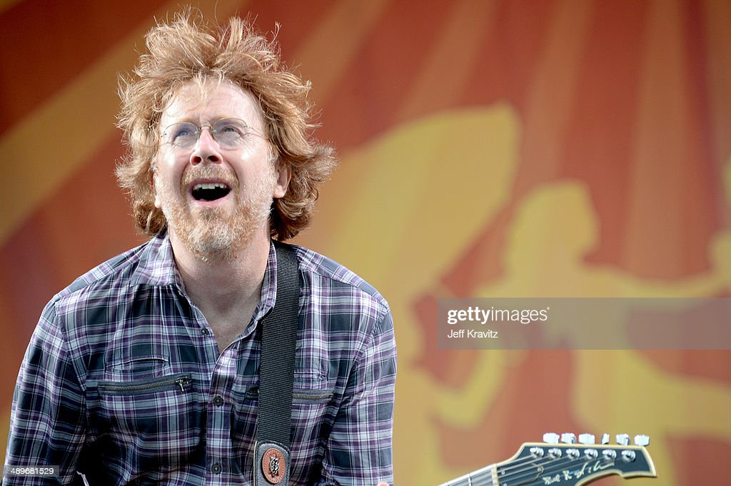 Trey Anastasio of Phish performs during the 2014 New Orleans Jazz & Heritage Festival at Fair Grounds Race Course on April 26, 2014 in New Orleans, Louisiana.