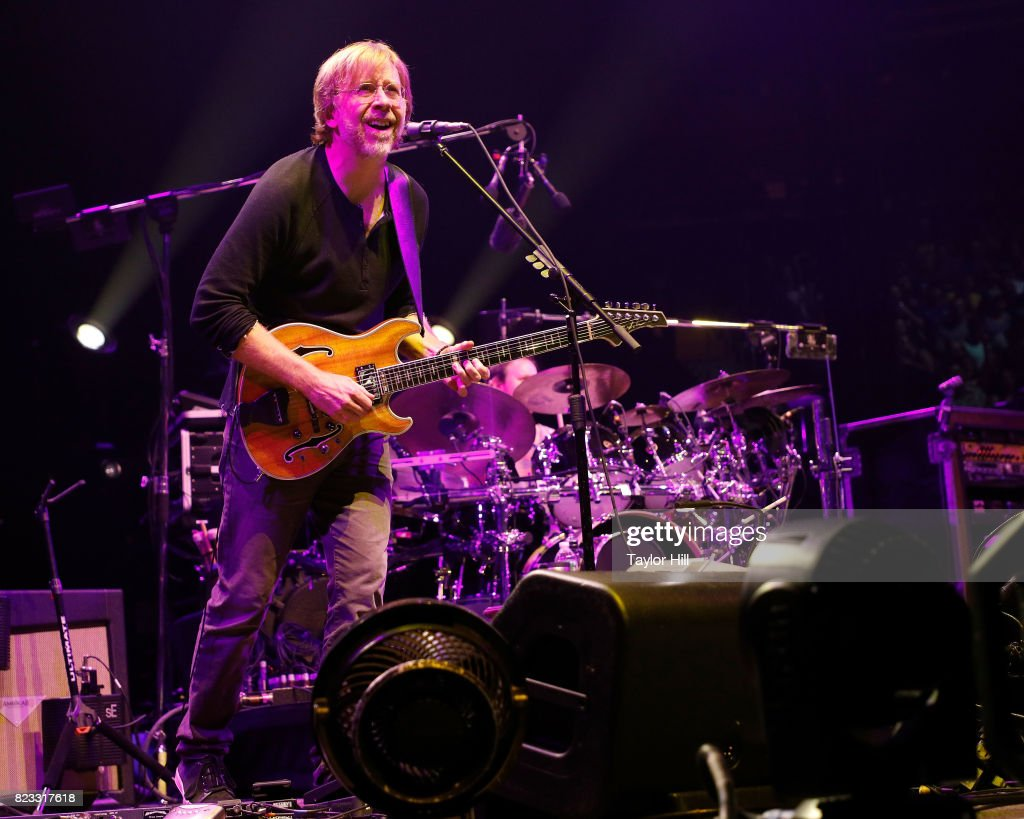 Trey Anastasio of Phish performs during 'The Baker's Dozen' Night 5 at Madison Square Garden on July 26, 2017 in New York City.