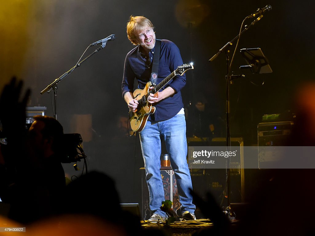Trey Anastasio of The Grateful Dead perform during the 'Fare Thee Well, A Tribute To The Grateful Dead' on July 3, 2015 in Chicago, Illinois.