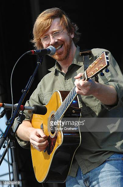 Trey Anastasio performs at The Odeum during Rothbury 2008 on July 6 2008 in Rothbury Michigan