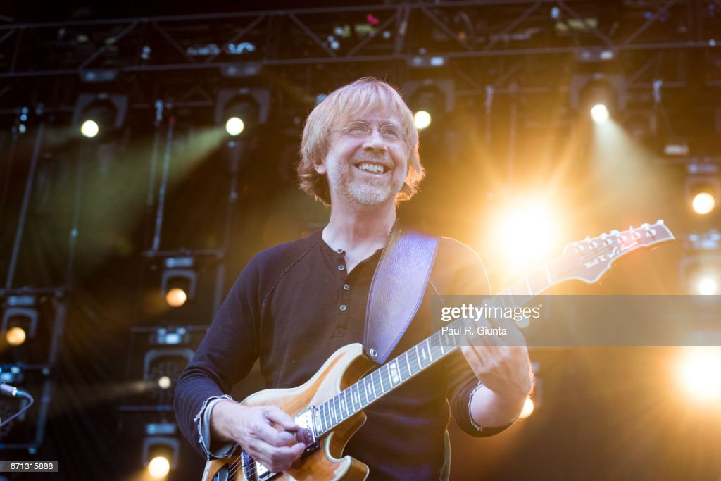 Trey Anastasio performs on stage during 2017 SweetWater 420 Fest at Olympic Centennial Park on April 21, 2017 in Atlanta, Georgia.