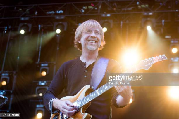 Trey Anastasio performs on stage during 2017 SweetWater 420 Fest at Olympic Centennial Park on April 21 2017 in Atlanta Georgia