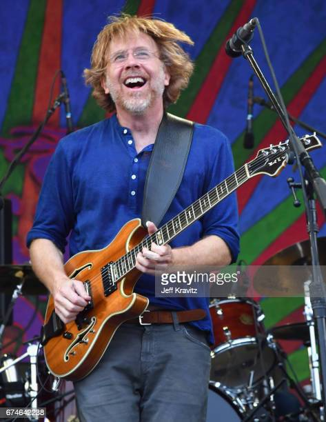 Trey Anastasio performs onstage during day 1 of the 2017 New Orleans Jazz Heritage Festival at Fair Grounds Race Course on April 28 2017 in New...