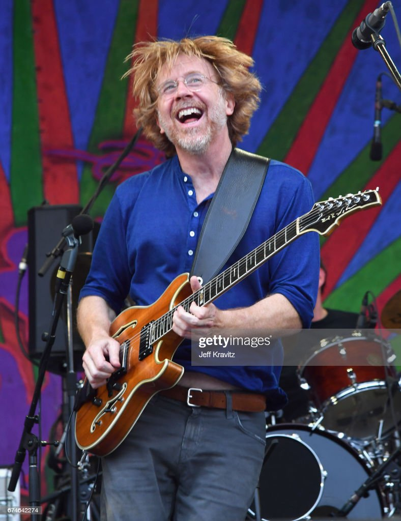 Trey Anastasio performs onstage during day 1 of the 2017 New Orleans Jazz & Heritage Festival at Fair Grounds Race Course on April 28, 2017 in New Orleans, Louisiana.