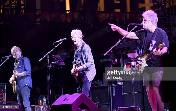 Trey Anastasio Phil Lesh and Bob Weir of the Grateful Dead performs on Fare Thee Well Celebrating 50 Years Of Grateful Dead at Levi Stadium on June...