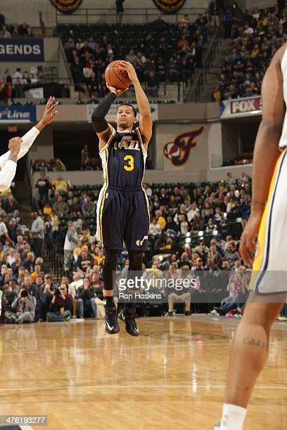 Trey Burke of the Utah Jazz shoots against the Indiana Pacers at Bankers Life Fieldhouse on March 2 2014 in Indianapolis Indiana NOTE TO USER User...