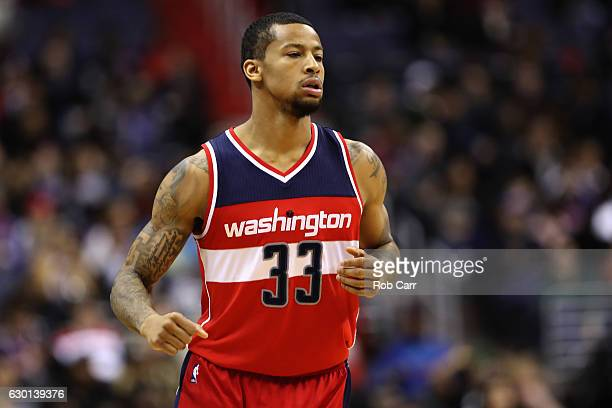 Trey Burke of the Washington Wizards runs on the court against the Detroit Pistons at Verizon Center on December 16 2016 in Washington DC NOTE TO...
