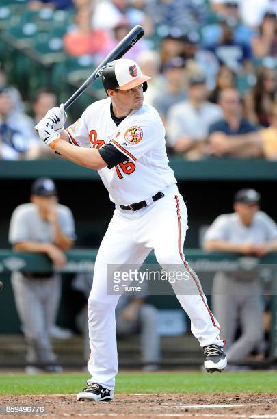 Trey Mancini of the Baltimore Orioles bats against the New York Yankees at Oriole Park at Camden Yards on September 7 2017 in Baltimore Maryland