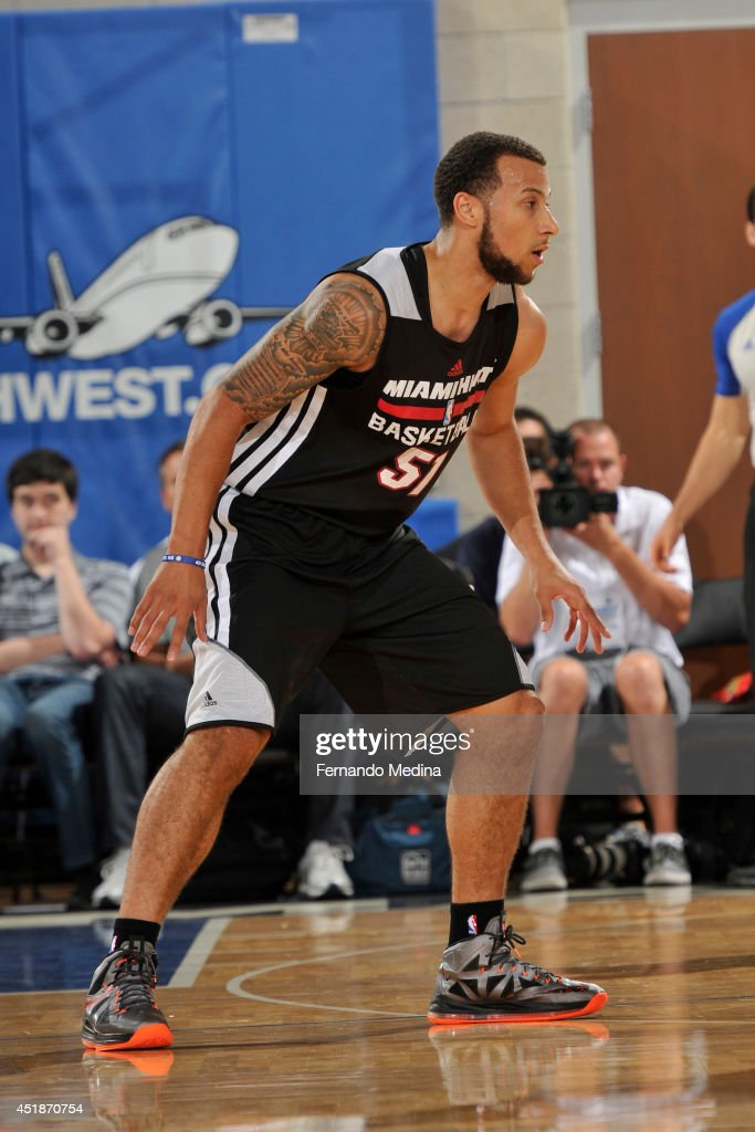 <a gi-track='captionPersonalityLinkClicked' href=/galleries/search?phrase=Trey+McKinney+Jones&family=editorial&specificpeople=8624313 ng-click='$event.stopPropagation()'>Trey McKinney Jones</a> #51 of the Miami Heat during the game against the Detroit Pistons during the Samsung NBA Summer League 2014 on July 8, 2014 at Amway Center in Orlando, Florida.