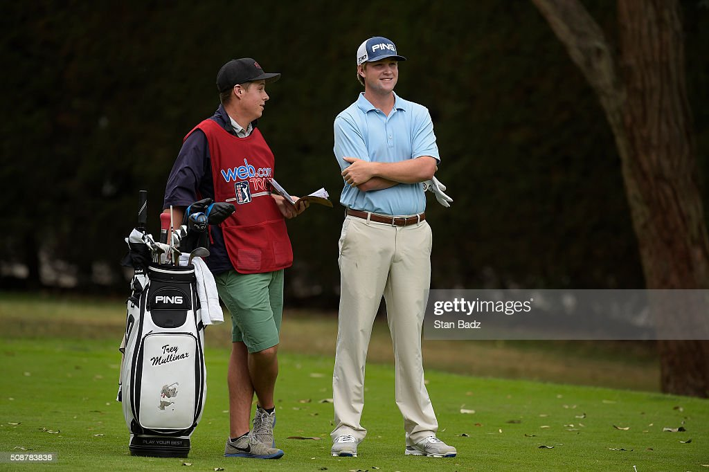 Trey Mullinax waits to play the first hole during the third round of the Web.com Tour Club Colombia Championship Presented by Claro at Bogotá Country Club on February 6, 2016 in Bogotá, Colombia.