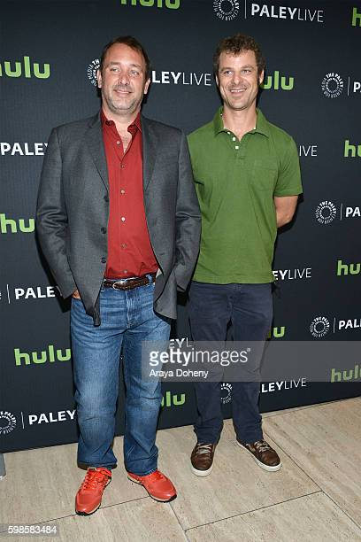 Trey Parker and Matt Stone attend the The Paley Center for Media presents a special retrospective event honoring 20 seasons of 'South Park' at The...