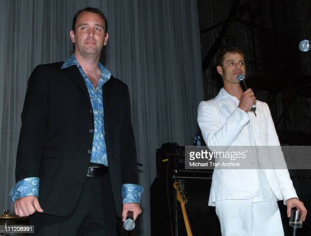 Trey Parker and Matt Stone during Comedy Central Celebrate 10 Seasons of 'South Park' Arrivals and Inside at The Lot in Los Angeles California United...