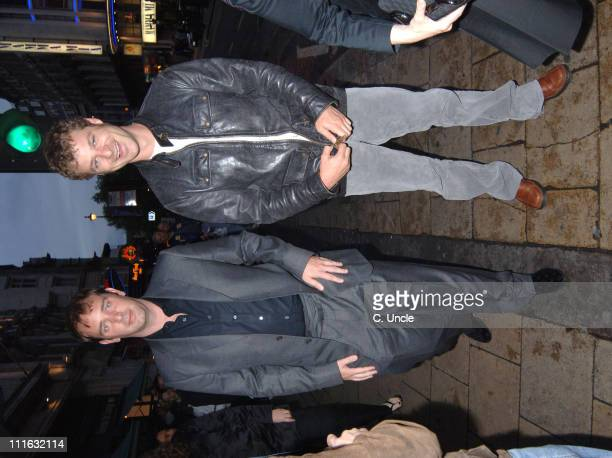 Trey Parker and Matt Stone during 'Team America World Police' London DVD Release Party at CC Club in London Great Britain