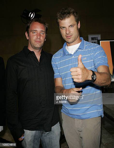 Trey Parker and Matt Stone during 'The Aristocrats' Los Angeles Premiere at The Egyptian Theatre in Hollywood California United States