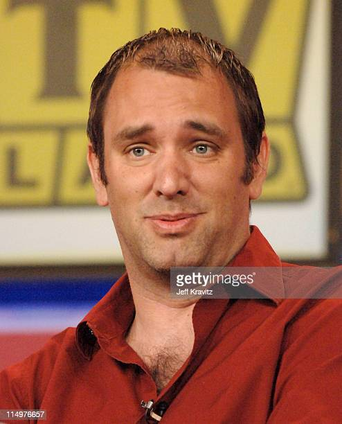 Trey Parker of 'South Park' during Comedy Central TVLand Nick and Nickelodeon Summer 2006 TCA Press Tour Panel at RitzCarlton Hotel in Pasadena...