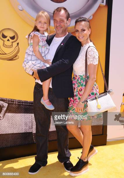 Trey Parker wife Boogie Tillmon and daughter Betty Parker attend the premiere of 'Despicable Me 3' at The Shrine Auditorium on June 24 2017 in Los...