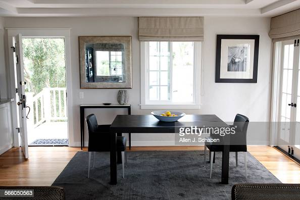 Trey Russells Dark Dining Room Table Contrasts With His Soothing Lilac Gray Painted Walls The Well Pictures