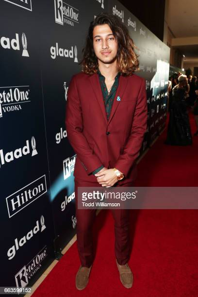 Trey Schafer attends the 28th Annual GLAAD Media Awards in LA at The Beverly Hilton Hotel on April 1 2017 in Beverly Hills California