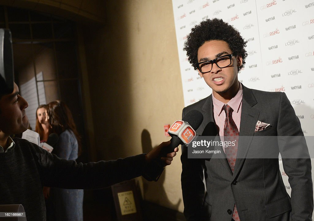 Trey Smith aka DJ AcE attends Vanity Fair and L'Oréal Paris-hosted D.J. Night with Freida Pinto in support of 10 x 10 and 'Girl Rising' at Teddy's at The Hollywood Roosevelt Hotel on February 19, 2013 in Los Angeles, California.