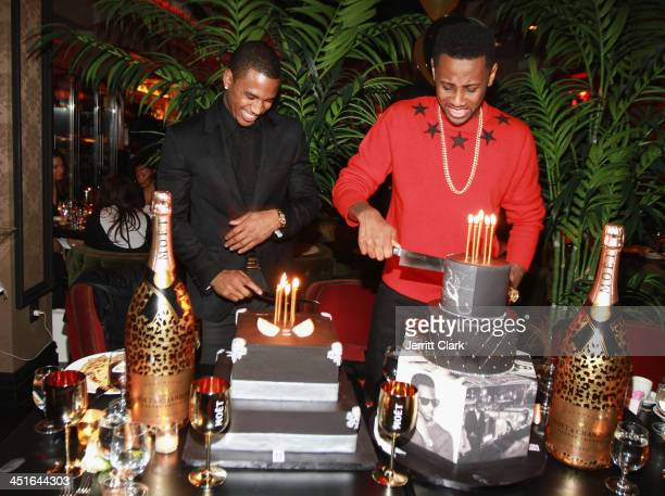 Trey Songz and Fabolous celebrate their birthday with BCakeNY and Moet Nectar Rose at Cherry on November 22 2013 in New York City