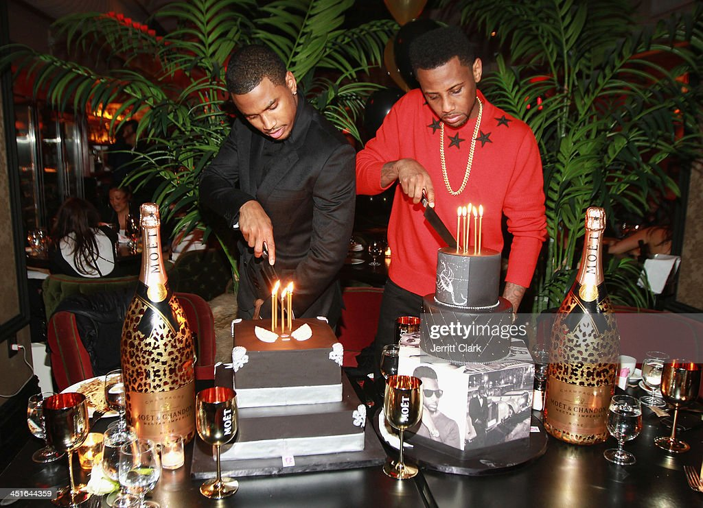 <a gi-track='captionPersonalityLinkClicked' href=/galleries/search?phrase=Trey+Songz&family=editorial&specificpeople=674835 ng-click='$event.stopPropagation()'>Trey Songz</a> and <a gi-track='captionPersonalityLinkClicked' href=/galleries/search?phrase=Fabolous&family=editorial&specificpeople=215255 ng-click='$event.stopPropagation()'>Fabolous</a> celebrate their birthday with BCakeNY and Moet Nectar Rose at Cherry on November 22, 2013 in New York City.